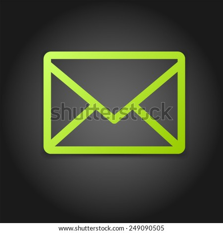 Envelope Mail icon Vector EPS 10 illustration. - stock vector