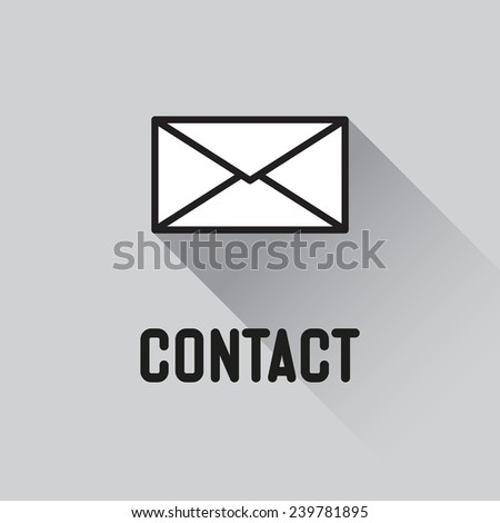 Envelope Mail icon, vector illustration.contact concept - stock vector