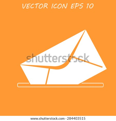 envelope mail symbol. Flat design style. EPS - stock vector
