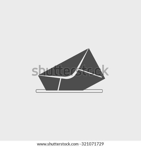 envelope mail symbol. Flat design style. EPS - stock vector