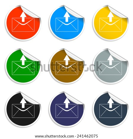 envelope mail symbol on white background. Vector - stock vector