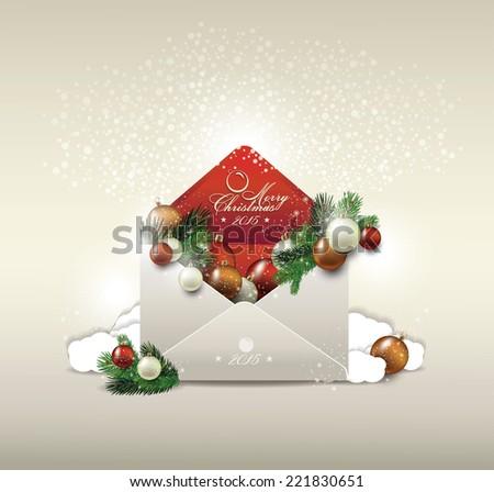 Envelope  merry christmas - stock vector