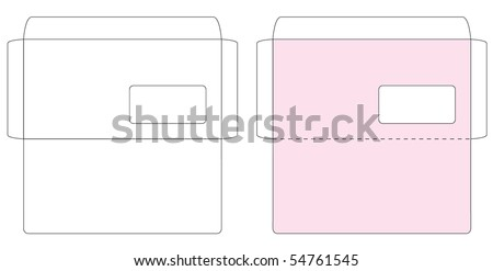 envelope template stock images royalty free images vectors shutterstock. Black Bedroom Furniture Sets. Home Design Ideas