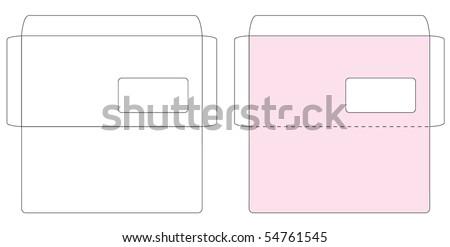 envelope template stock images royalty free images vectors shutterstock. Black Bedroom Furniture Sets. Home Design Ideas