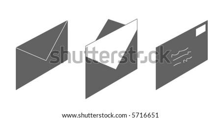 Envelope vector - stock vector