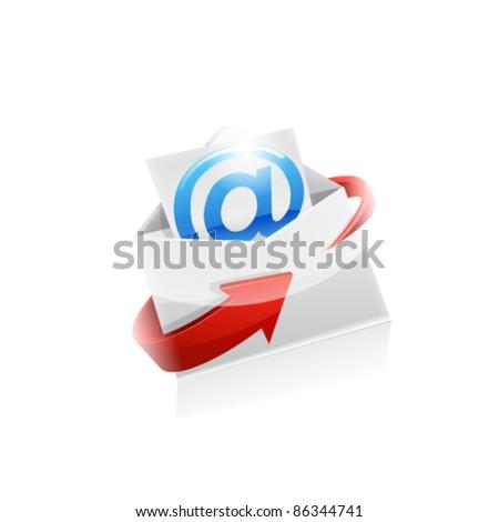 Envelope. Vector - stock vector