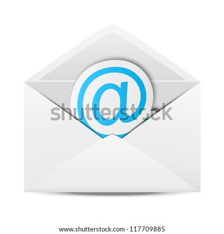 Envelope with paper symbol of email - stock vector