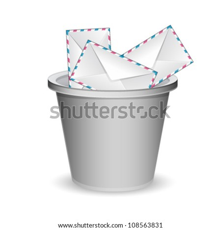 envelopes in the trash