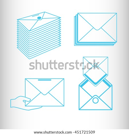 Envelopes. Vector icon. - stock vector
