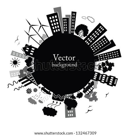 Environment background. - stock vector