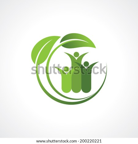 environment friendly symbol - stock vector