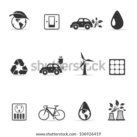 Environment  icon single color. Transparent shadows placed on separated layer. - stock vector