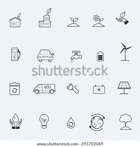 Environment Icons and Ecology Icons - stock vector