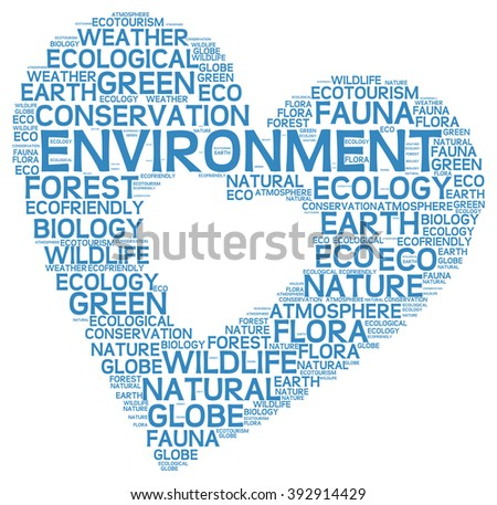 Environment info-text graphics and arrangement concept on white background (word cloud) - stock vector