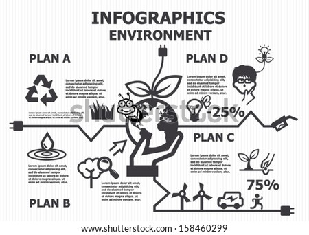 Environment infographics - stock vector