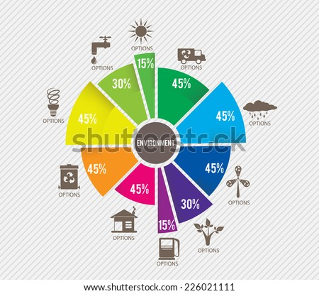 environment infographics template - stock vector
