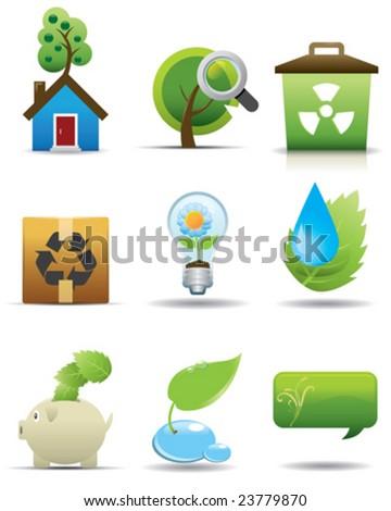 Environment Protection Icon Set -- Premium Series - stock vector