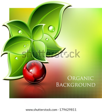 Environmental and organic abstract background - vector illustration - stock vector