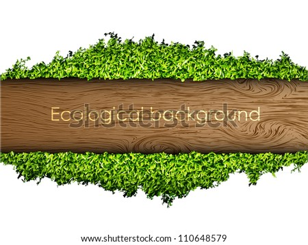 environmental background of the banner of grass and tree - stock vector