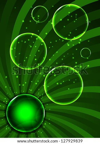Environmental background with plant.. Vector illustration. - stock vector