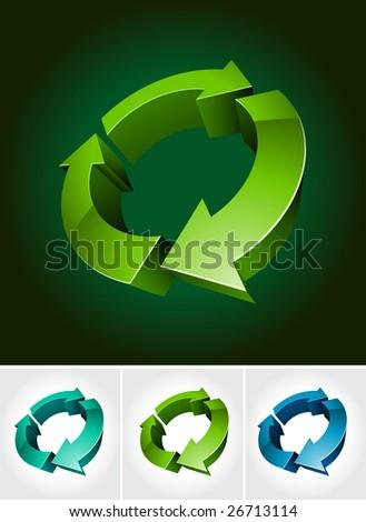 environmental 3d symbol - stock vector