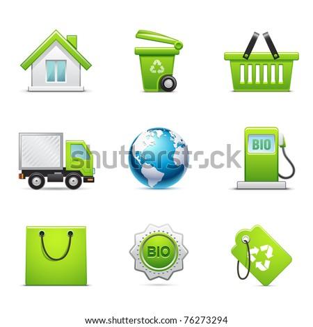 Environmental icon set - stock vector