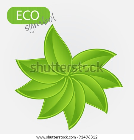 Environmental icon with plant. Vector illustration - stock vector