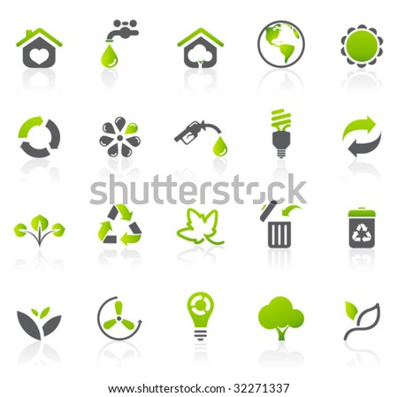 Environmental Icons - stock vector