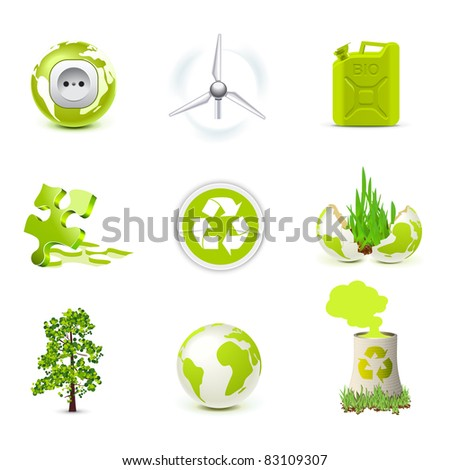 Environmental icons | Bella series - stock vector