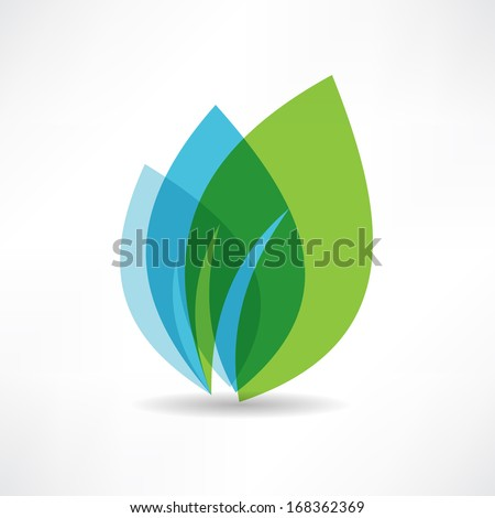environmental leaves icon - stock vector
