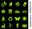 Environmental Nature Icons Collection Original Vector Illustration - stock photo