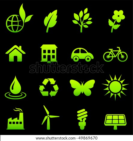 Environmental Nature Icons Collection Original Vector Illustration