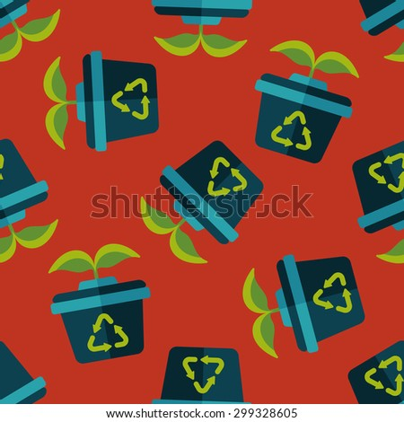 Environmental protection concept flat icon,eps1 seamless pattern background