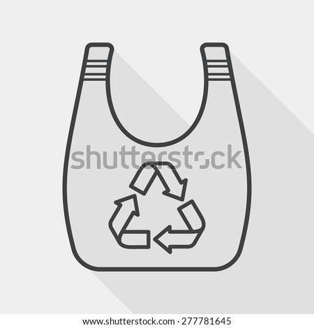 Environmental protection concept flat icon with long shadow,eps1, line icon - stock vector