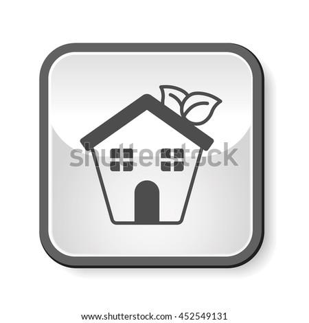 Environmental protection concept greenhouses icon - stock vector
