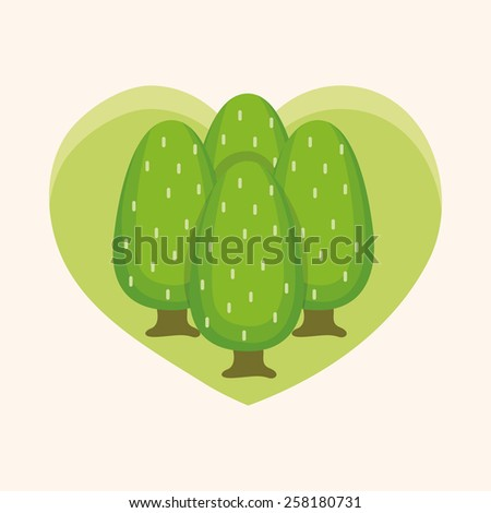 Environmental protection concept theme elements; Protect our forests and ecological plant. - stock vector