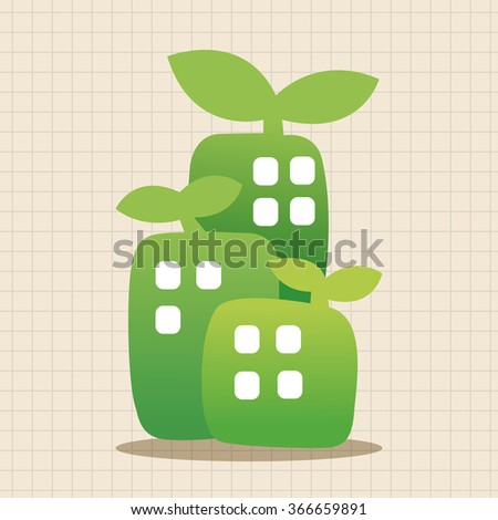 Environmental protection concept theme elements; The factory do well on emission to not pollute the air and environment - stock vector
