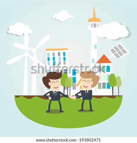 Environmental Sustainability Business concept - stock vector