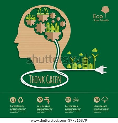 Environmental Systems Thinker. - stock vector