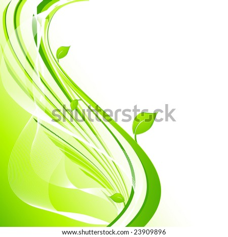 environmental vector background with copy space