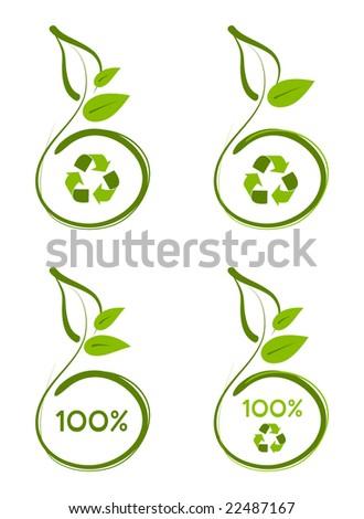 Environmentally friendly design. - stock vector