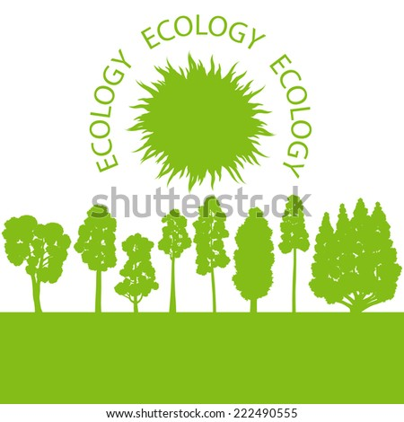Environmentally friendly land vector background concept - stock vector