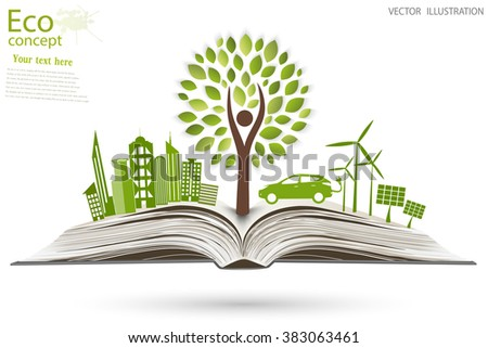 Environmentally friendly world. Vector illustration of ecology the concept of info graphics modern design. the icon and sign. ecological concepts - stock vector