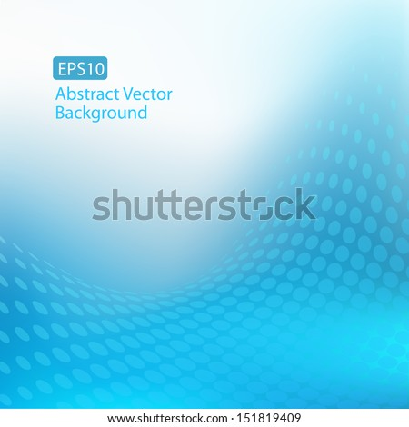 EPS10 Abstract Cool Blue Swirl Background - stock vector