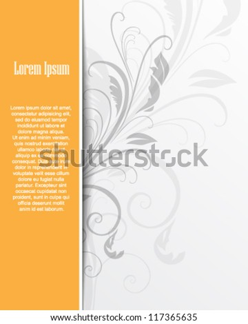 eps10 abstract elegant floral background - stock vector