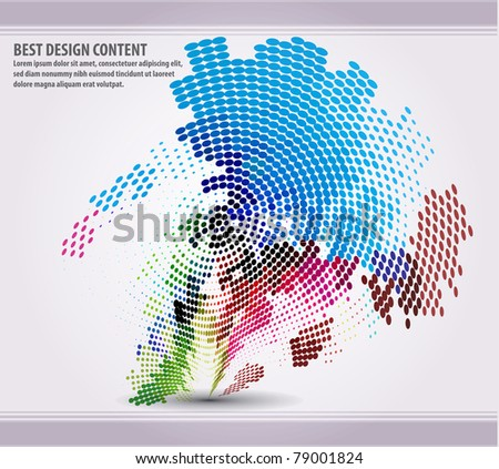 eps10 abstract mosaic vector illustration