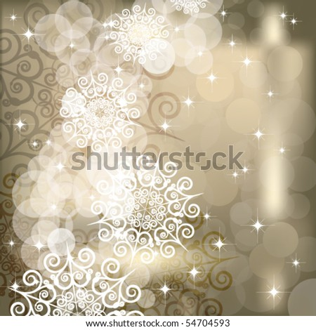 EPS Abstract snowflake  background of holiday lights. - stock vector