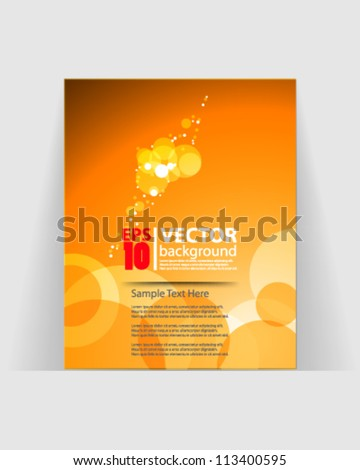 eps10 abstract vector brochure design - stock vector