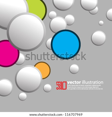 eps10 abstract vector design -circles on isolated background - stock vector