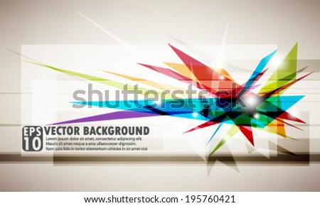 eps10 abstract vector design - multicolored futuristic geometric design - stock vector